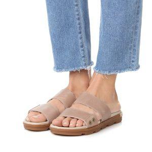 NIB Sorel Torpeda II Flat Sandal Slide Leather